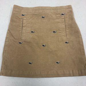 Vineyard vines Sz 8 like new corduroy skirt